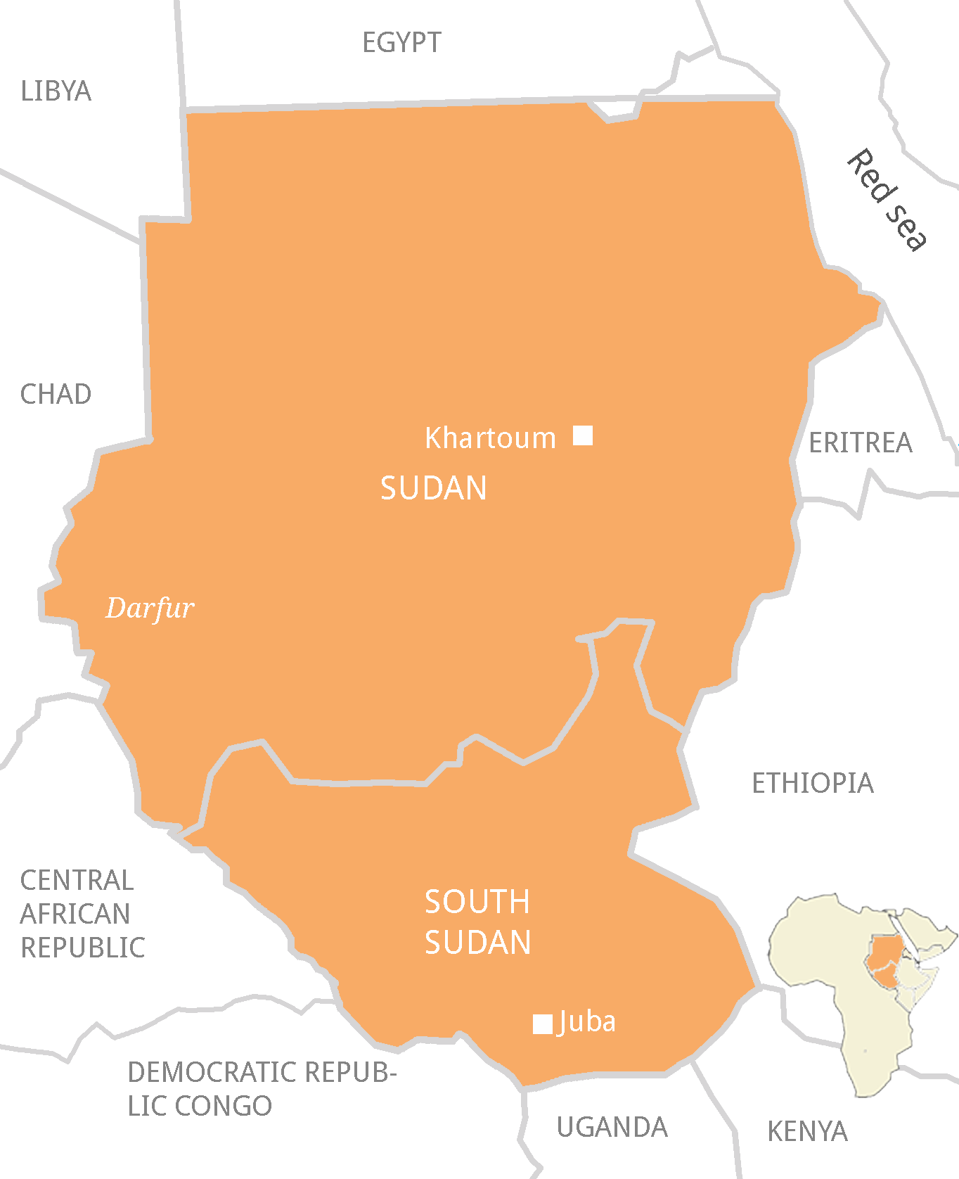 Refugee Movements - Sudan map
